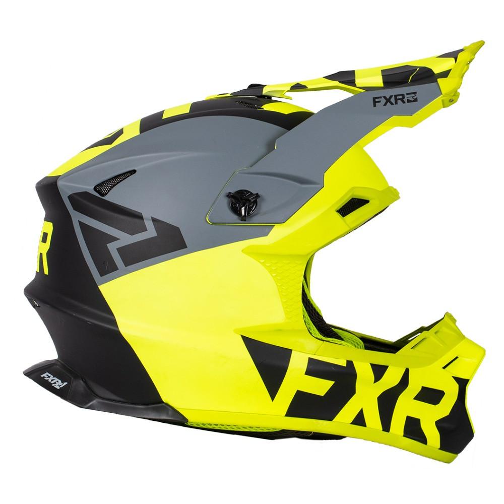 FXR Blade 2.0 Helium Helmet Svart/Hi Vis