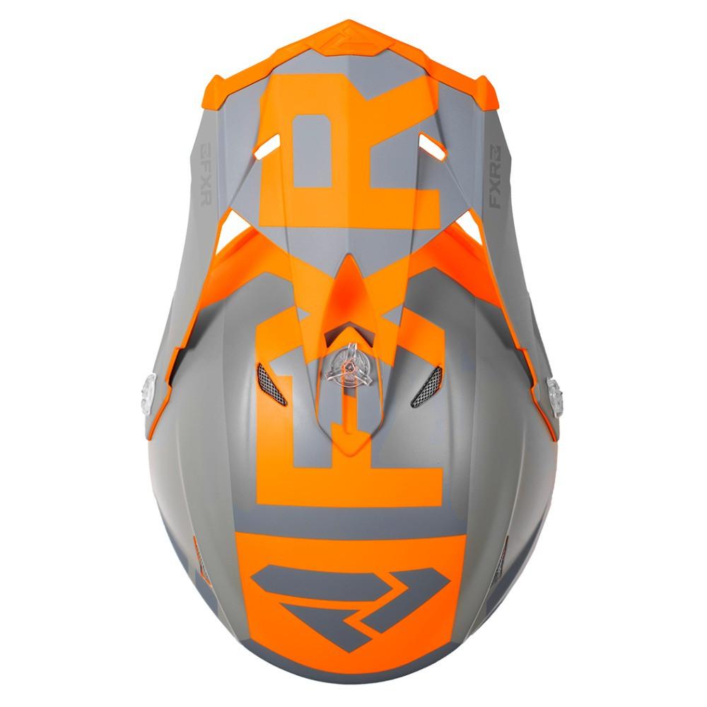 FXR Blade 2.0 Helium Helmet Flo Orange/Grå/Charcoal