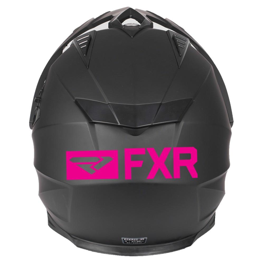 FXR Octane X Recoil Skoterhjälm Med Elvisir Svart/Elec Pink