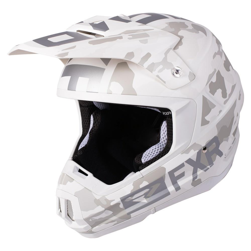 FXR Torque Squadron Helmet Vit Camo/Vit