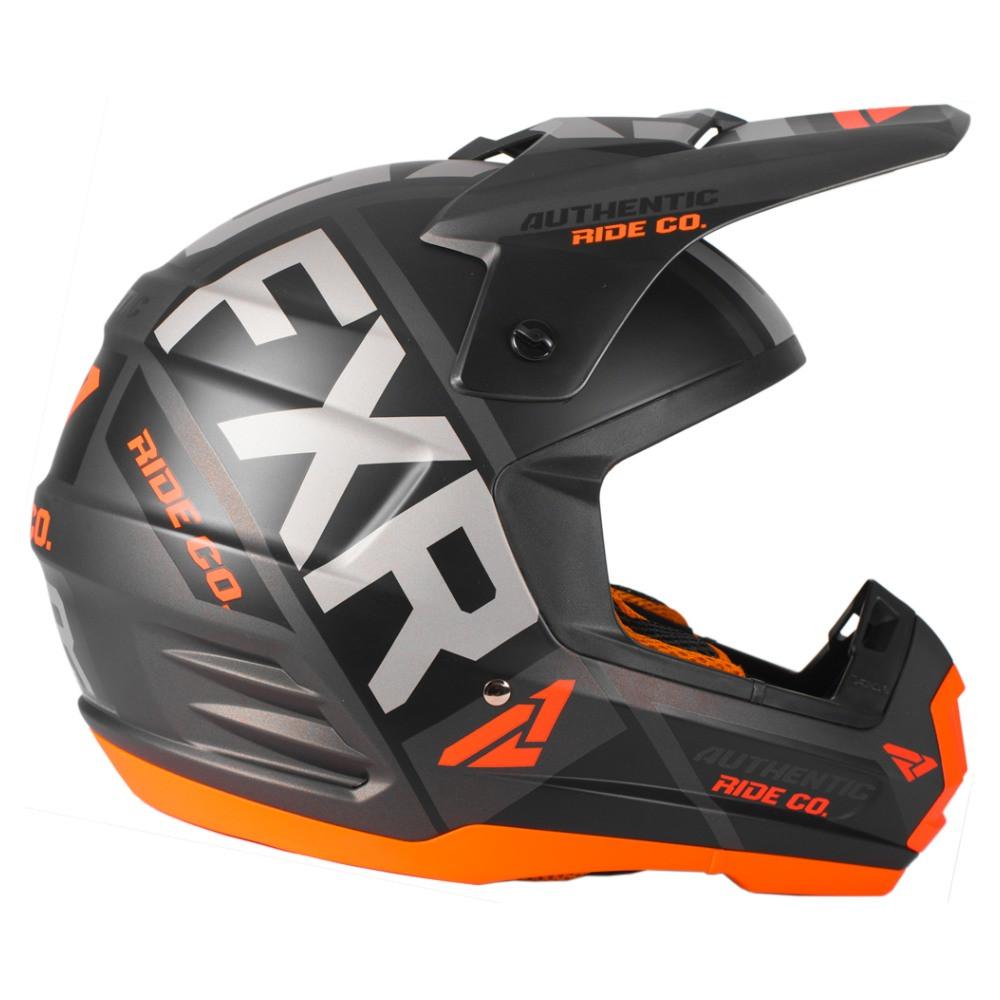 FXR Torque Evo Helmet Svart/Flo Orange/Charcoal