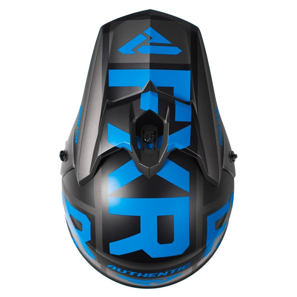 FXR Torque Evo Helmet Svart/Blå/Charcoal