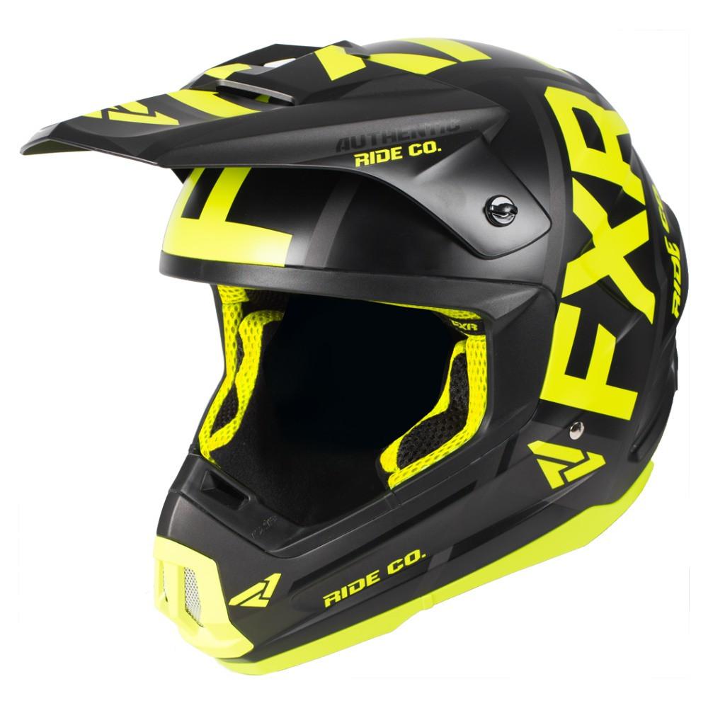 FXR Torque Evo Helmet Svart/Hi Vis/Charcoal