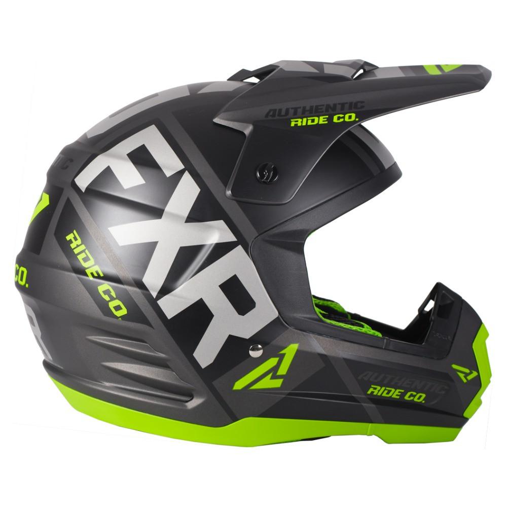 FXR Torque Evo Helmet Svart/Lime/Charcoal