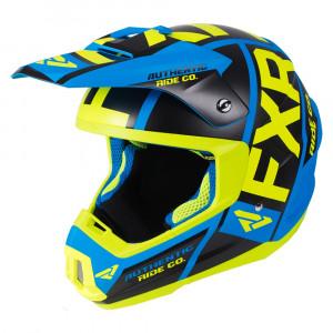 FXR Torque Evo Helmet Blå/Hi Vis/Svart