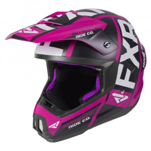 FXR Torque Evo Helmet Wineberry/Svart/Vit