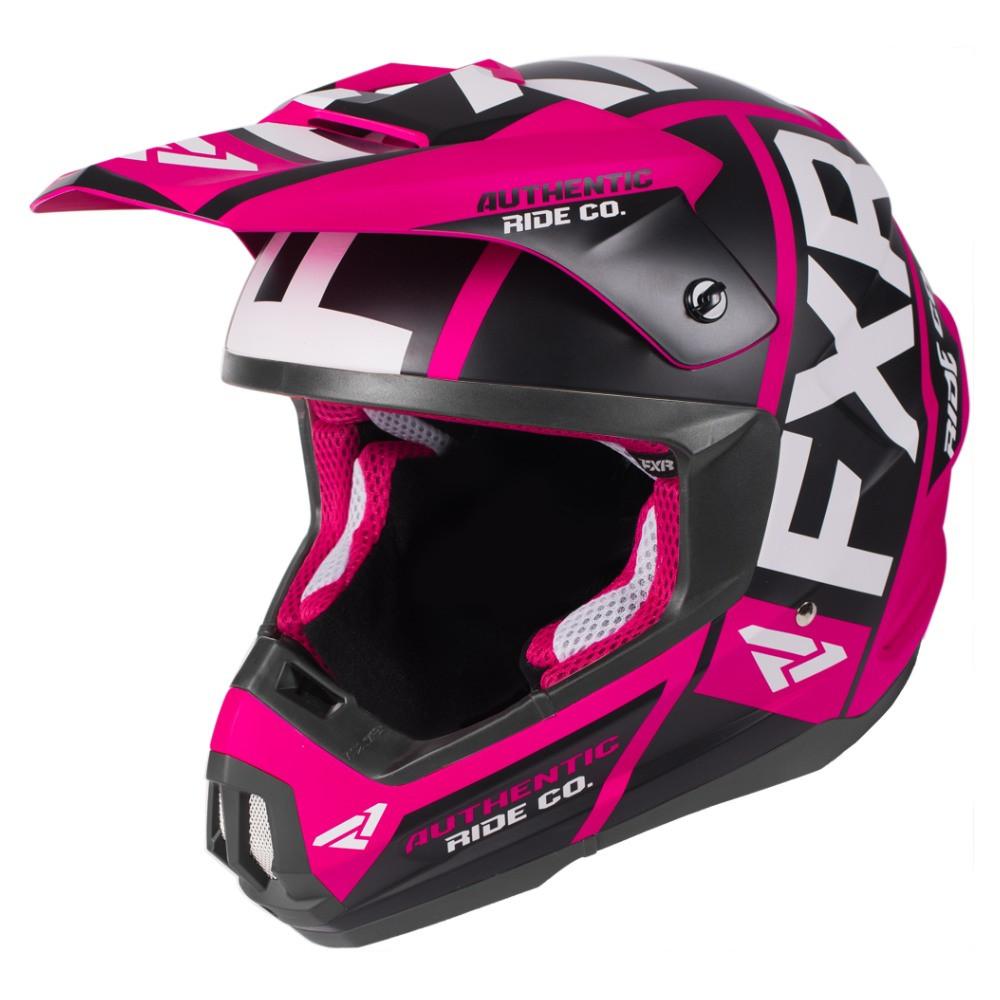 FXR Torque Evo Helmet Fuchsia/Svart/Vit