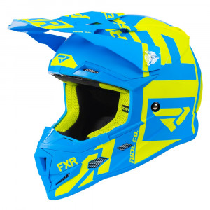 FXR Youth Boost Clutch Helmet Hi Vis/Blå