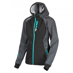 FXR Pulse Softshell Jacka Char Heather/Mint