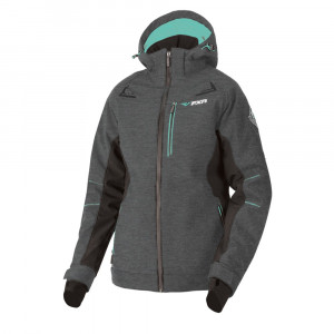 FXR Vertical Pro Fodrad Softshell Grå Heather/Mint