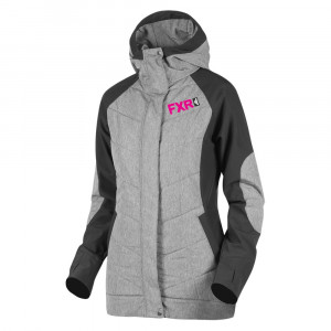 FXR Alloy Jacka Grå Heather/Fuchsia