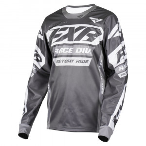 FXR Cold Cross RR Jersey Charcoal/Grå