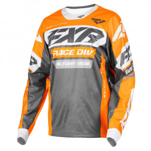 FXR Cold Cross RR Jersey Charcoal/Orange/Grå