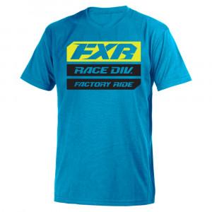 FXR Race Division T-Shirt Blå/Hi Vis