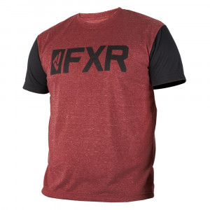 FXR Evo Tech T-Shirt Maroon/Svart