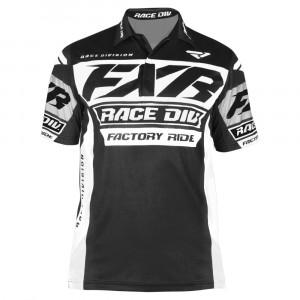 FXR Race Division Tech Polo Tröja Svart/Vit