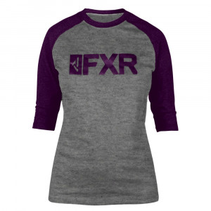 FXR Evo 3/4 Sleeve Tech Tröja Grå Heather/Plum