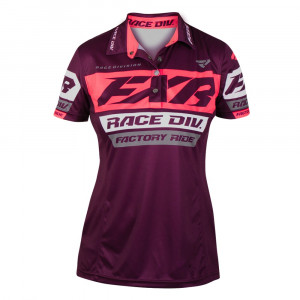 FXR Race Division Polo Tröja Plum/Coral