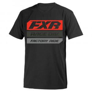 FXR Yth Race Division T-Shirt Svart/Lava