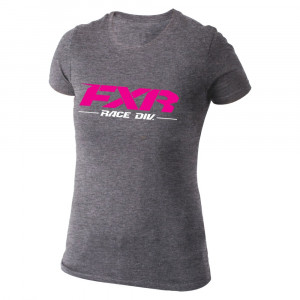FXR Yth Team T-Shirt Grå Heather/Fuchsia