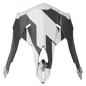 FXR Blade 2.0 Race Div Skoterhjälm Peak Svart/Vit