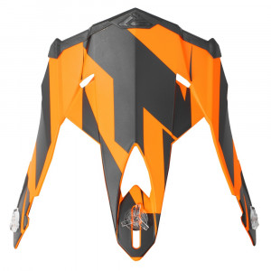 FXR Blade 2.0 Race Div Skoterhjälm Peak Svart/Flo Orange