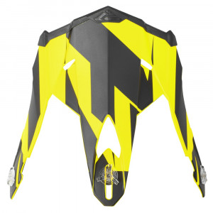 FXR Blade 2.0 Race Div Skoterhjälm Peak Svart/Hi Vis