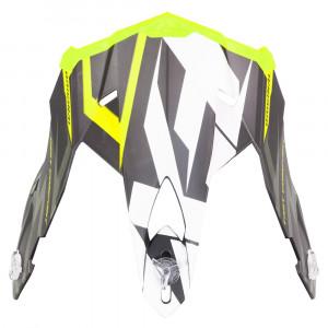 FXR Blade 2.0 Vertical Skoterhjälm Peak Svart/Hi Vis