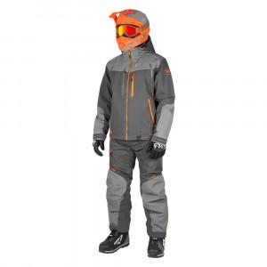 FXR Elevation Lite Dri-Link 2 Delat Skoteroverall Charcoal/Grå/Orange