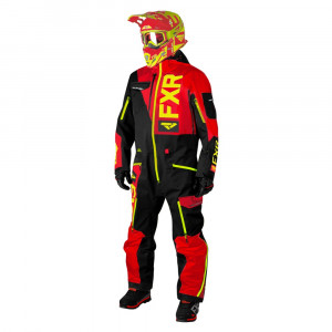 FXR Ranger Instinct Lite Skoteroverall Svart/Röd/Hi Vis