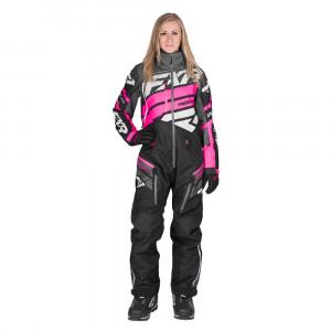 FXR Boost Lite Skoteroverall Charcoal/Svart Fade/Elec Pink