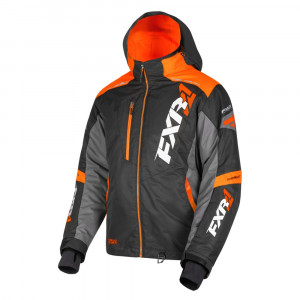 FXR Mission FX Skoterjacka Svart/Orange/Charcoal