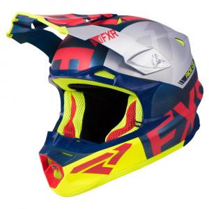 FXR Blade 2.0 Carbon Evo Helmet Navy/Röd/Hi Vis/Silver Unisex