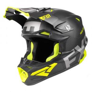 FXR Blade 2.0 Carbon Evo Helmet Svart/Hi Vis Unisex