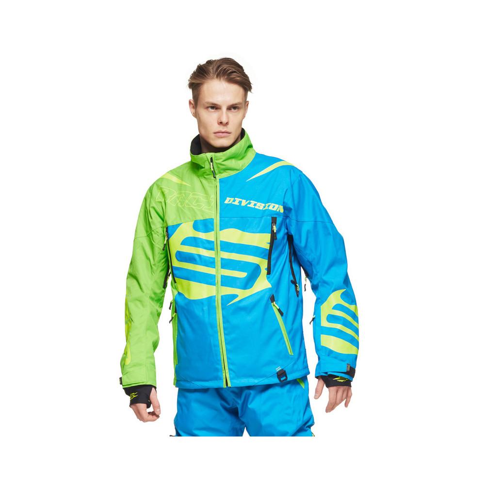Sweep Racing Division Skoterjacka - Blå/Grön/Gul