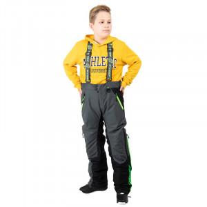 Sweep Racing Division Kids Byxa - Grå/Svart/Grön 130-140