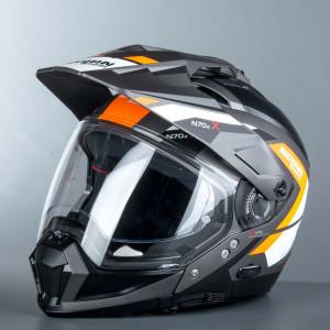 Nolan N70-2 X Grandes Alpes Mc hjälm Fluo/Grå/Orange