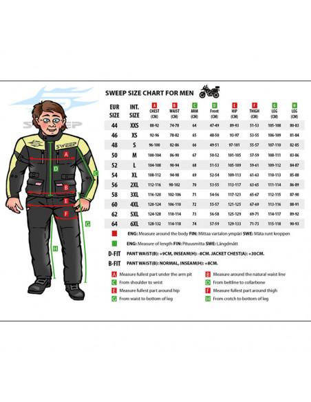 Sweep Challenger Evo Vattentät Textiljacka, svart/gul