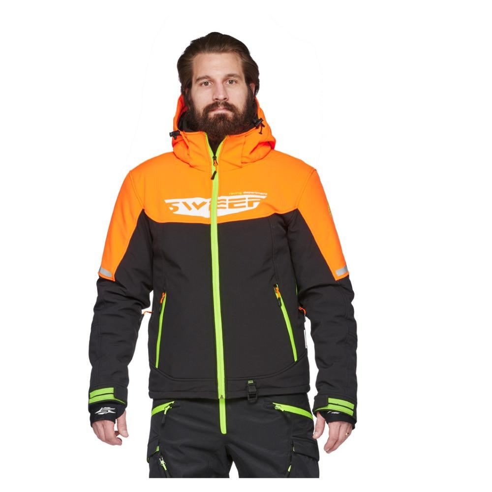 Sweep Concordia Softshell Jacka Svart/Orange