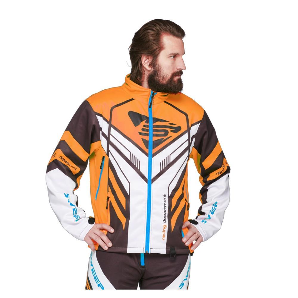 Sweep Racing Division 2.0 Skoterjacka Svart/Vit/Orange/Blå