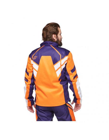 Sweep Racing Division 2.0 Skoterjacka Vit/Orange/Blå/Grön