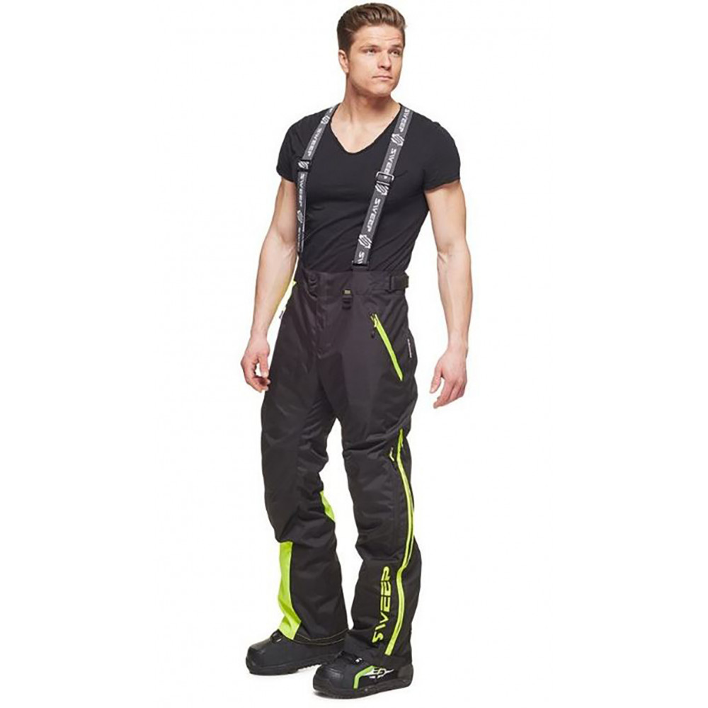 Sweep Racing Division Byxa, svart/gul/vit L
