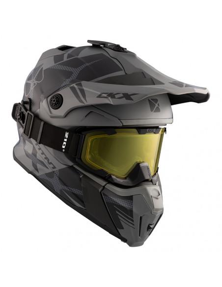 CKX Skoterhjälm inkl Titan goggles