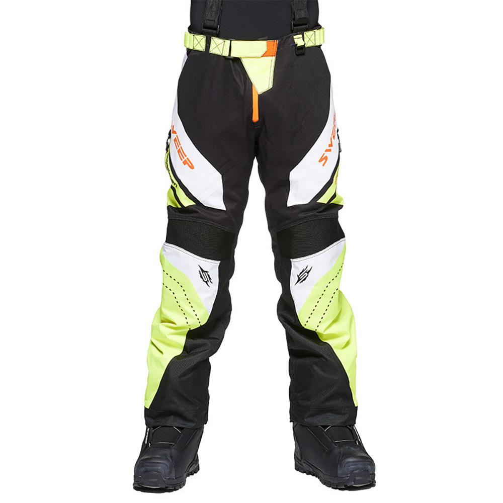Sweep Racing Division 2.0 Skoterbyxa Svart/Vit/Gul/Orange